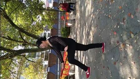 手机视频 小蒸陈阿姨教广场舞 莲湘棒 《红动中国》