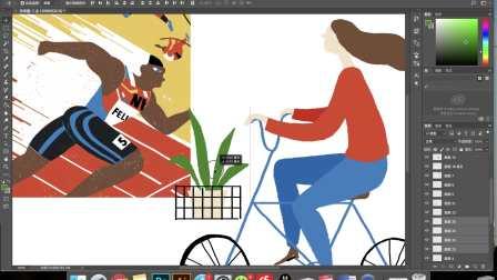 阿妹艺术|PS公开课-商业插画