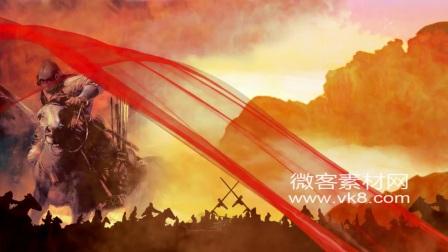 18sp591 精忠报国古代战争附音乐微客素材网免费高清实拍视频素材AE模板片头LED舞台背景视频