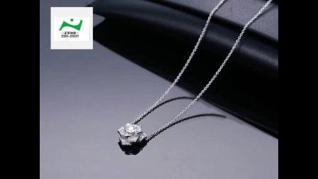 2018欧美新款18K钻石首饰 广州正东珠宝 品牌合作代工厂 定制3天出货 GIA钻石批发