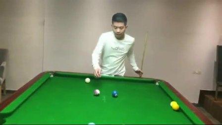 中式台球世锦赛 扎杆弧线球教学视频 台球视频