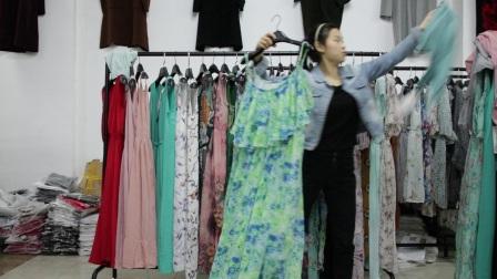 精品女装批发服装批发女士时尚夏装精品长款连衣裙30件一份送5件外短披,不挑款零售