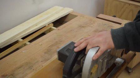 如何制作台锯用简单工具How to build a Table Saw with Simple Tools-Part 1Blade Lift Mechanism