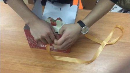 二合一蛋糕盒折叠方法_clip