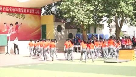 小學體育人教版五六年級《1.跳上成蹲撐,起立,挺身跳下的學練》河南李文寶