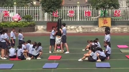 小學體育人教版五六年級《3.腳蹬墻手倒立》湖北彭昌進