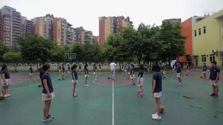 小学体育人教版五六年级《3.传接球技术与教学比赛》四川齐虹宇