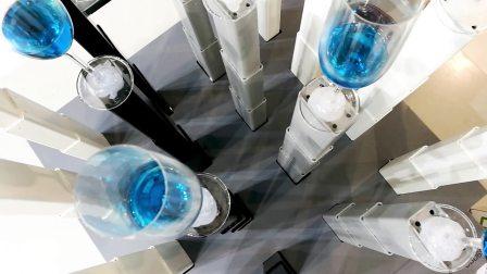 LINAK力纳克办公系列 — 2018广州家具展16根升降柱平稳同步升降