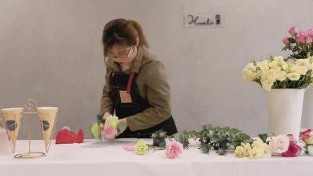 花里花艺——冰激凌花束制作方法