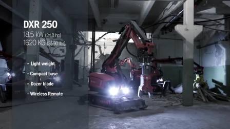 DXR user guide - Range overview 富世华遥控破拆机器人使用指南-产品系列概览