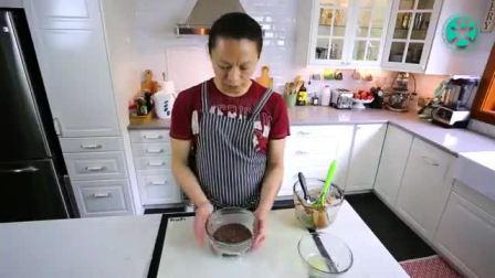 8寸巧克力戚风蛋糕的做法 蛋糕卷怎么做 怎么自己做蛋糕