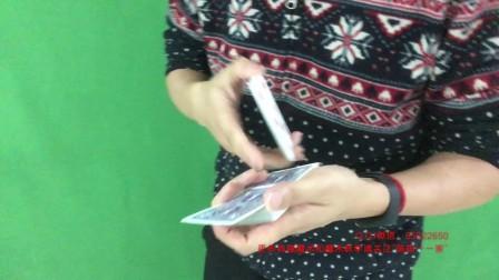 纯手法魔术《调皮的一张牌》——爸爸带女儿学魔术表演