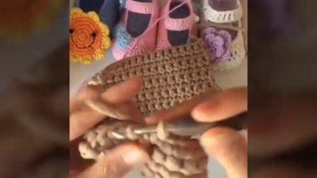小米手工(第63集)钩针编织布条线包包教程