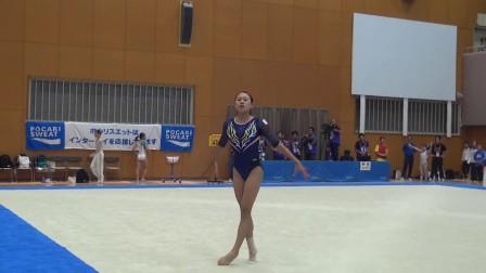 远山亚理沙 2016日本高校综体女子体操决赛 自由操