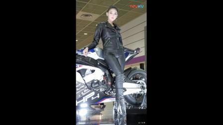 180412 2018 首尔摩托车展 韩国美女模特 车模 문가경(文架景(文佳京(文佳景)_超清
