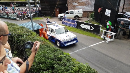 Jimmy McRae in his old Metro 6R4 at Shelsley Hill Climb 2016