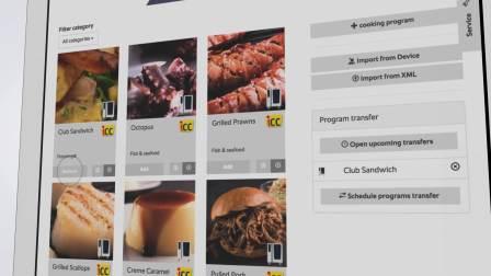 如何使用 ConnectedCooking 传输和管理烹饪程序