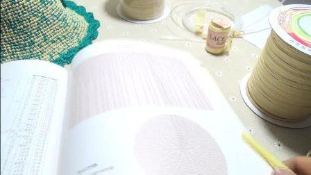 第119集 带蕾丝花边的棉草拉菲大檐帽编织教学(上)许红霞教编织