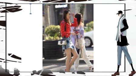 街拍时尚性感火辣美少妇,身材性感完美,肉丝牛仔短裙,美爆了
