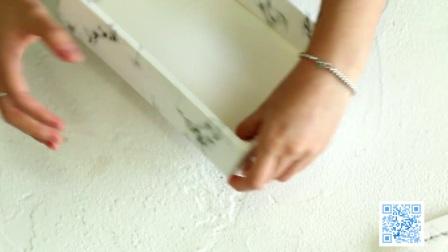 大理石纹蛋黄酥盒折法