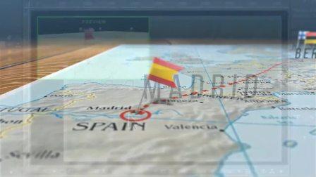 地图路径轨道箭头动画演示军事旅游图片地点效果视频AE模板