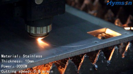 3000W 10mm SUS LASER CUT!Hymson Laser