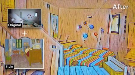 梵高AI艺术风格包 - Vincent's Bedroom in Arles