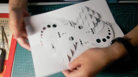 立体纸雕 立体构成 立体折纸 手工DIY 剪纸 纸模型 点线面综合构成 制作视频