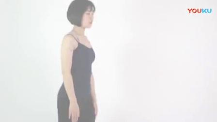 美女健身 用简易瑜伽舒缓经痛 - 双膝张开的婴孩式_标清