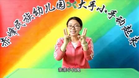 赤峰民族幼儿园大手小手动起来-手指游戏《石头剪刀布》