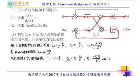 南理工自动化南京理工大学2017年873自动控制理论考研真题答案与详解
