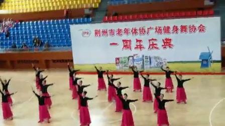 2O18一荆州市广场舞协会一周年庆典培训基地《中国脊粱》