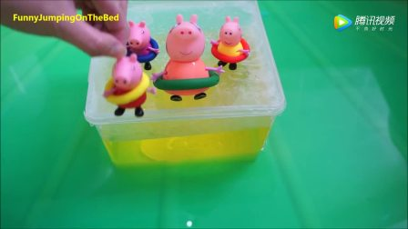 听小猪佩奇边唱歌边跳水, 超有趣!