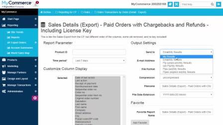 MyCommerce培训视频 - 导出销售报告
