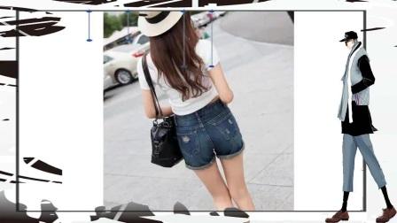 街拍牛仔裤美女散发运休闲气息的女性魅力!