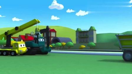 汽车城之建筑队给汽车宝贝们建了一个虚拟堡垒儿童动画片
