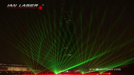 20180101郑州玉米楼跨年灯光激光秀