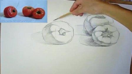 素描眼睛的详细画法 零基础素描入门步骤画 入门风景速写临摹图