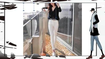 街拍牛仔裤的简洁搭配优雅的衬托出女人时尚感!