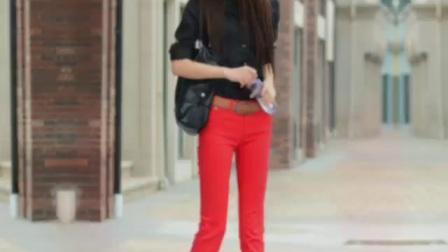 街拍牛仔裤~春装新款糖果色牛仔裤女裤子弹力彩色