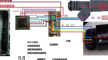 汽车电脑板维修之小乌龟电脑05172模块