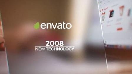 A2730 AE模板-线条切割叠加拼贴 照片图片展示 电子相册 大气企业宣传片