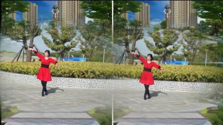 春色满园广场舞【山谷里的思念】。编舞美久