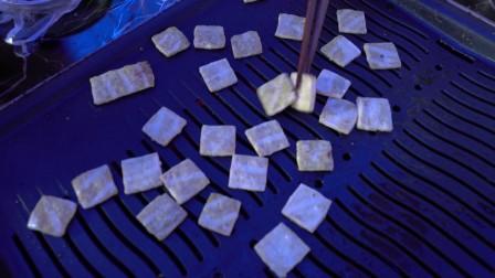 遵义特色小吃小豆腐 外焦里嫩满口喷香