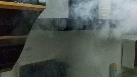 厨妃新款T型烟机CF_T450吸烟效果