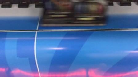彩虹喷绘户外写真 自动售卖机广告画面