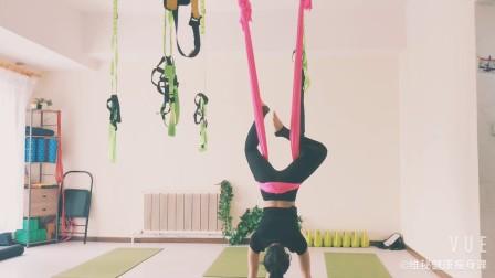 流动中带着呼吸的空中瑜伽【沈阳铁西知心瑜伽工作室】