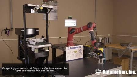 Sawyer智能协作机器人利用内置摄像机操控机器