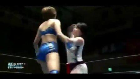 日本女子摔跤-2018.4.22 笹村あやめ vs 進垣リナ