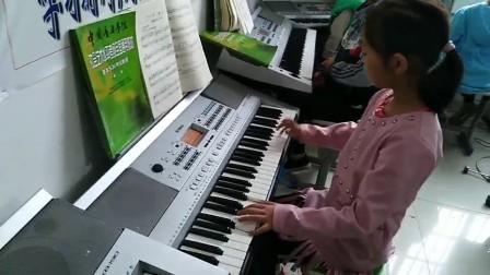 """《蓝猫淘气三千问》学员舒美心演奏电子琴考级二级曲目——""""雅美钢琴艺术培训中心"""""""